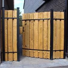 Slipfence 4 Ft X 6 Ft Wood And Aluminum Fence Gate Sf2 Gk100 The Home Depot Landscapingedginghomed Aluminum Fence Gate Backyard Fence Decor Aluminum Fence