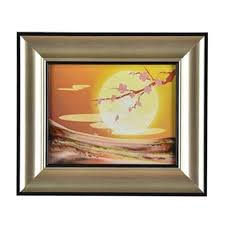 glass art picture frame wall hanging
