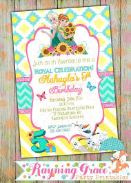 Frozen Fever Princess Printable Birthday Party Invitations