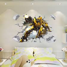 3d Yellow Bumblebee Huge Wall Stickers Decal Kids Home Decor Mural Diy Gift 725 Wall Stickers Aliexpress