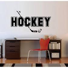 Hockey And Puck Wall Or Window Decal 13 X 24 Walmart Com Walmart Com