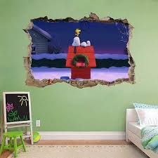 The Peanuts Movie Snoopy Charlie Brown Smashed Wall Decal Wall Sticker Art H496