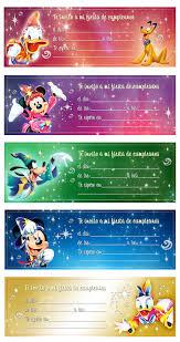 Invitaciones De Cumpleanos Con Personajes Disney Version Parisina