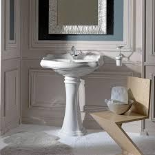 kerasan white bathroom pedestal sink