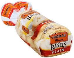 thomas plain bagels 6 ea nutrition