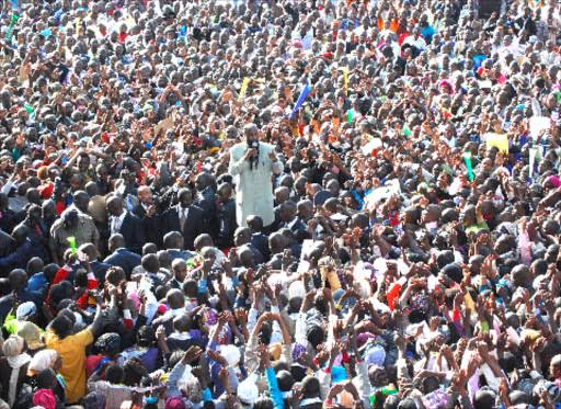 Image result for how many people attend prophet owuor service""