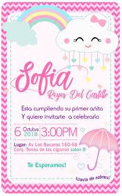 Invitacion Nubes Arcoiris Kit Imprimible Lluvia De Amor 10 000