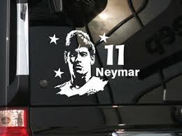 Soccer World Star Neymar Vinyl Car Decal Sticker 6 5 W Ebay
