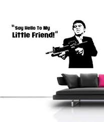 Large Scarface Tony Montana Film Mural Wall Art Free Squeegee Vinyl Decal Ebay