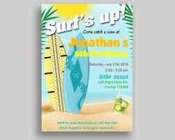 Surf Birthday Invitation Surf Birthday Party Invitation Surf