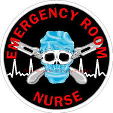 Emergency Room Nurse Sticker At Sticker Shoppe