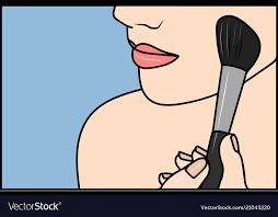 pop art makeup closeup of y use
