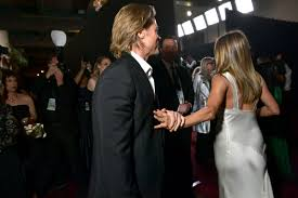 Brad Pitt and Jennifer Aniston meet backstage after SAG Awards ...