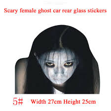 Halloween Decor Sticker 3d Transparent Scary Female Ghost Car Rear Window Decal Stickers Free Shipping Dealextreme