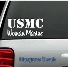 Bluegrass Decals A1144 Usmc Marine Corp Woman Marine Decal Sticker Car Truck Suv Van Laptop