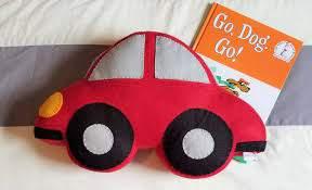 Large Felt Car Shaped Pillow Boy S Room Decor Baby Etsy