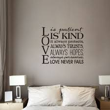 Love Is Patient Love Is Kind Wall Decal Love Quotes Bible Wedding Wall Art Bedroom Decor Color Black Wish
