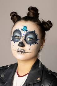day of the dead skull makeup tutorial