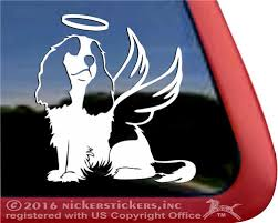 Custom Cavalier King Charles Spaniel Dog Decals Stickers Nickerstickers