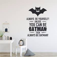 Waliicorners Boys Room Decor Batman Style Wall Decals Always Be Batman Quote Wall Sticcker Kids Room Wall Decoration Removable Mural Waliicorner S Store