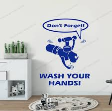 Free Printable Hand Washing Posters That Are Priceless Wall Decal Vinyl Words Gift Noon Com Shop Generic Wash Your Hands Yw 130 Wall Stickers Aliexpress