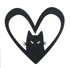 Amazon Com Custom Vinyl Kitty Heart Decal Cat Bumper Sticker For Tumblers Laptops Car Windows Pick Your Size And Color Handmade