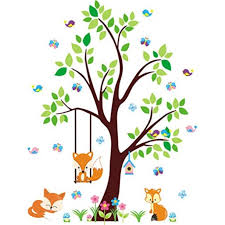 Forest Wall Decals Wall Decals Nursery Woodland Animal Wall Stickers Peel And Stick Repositionable Wall Decals