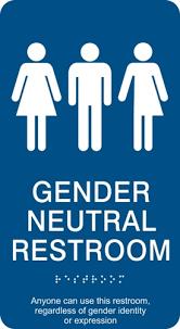 gender neutral restroom sign ada