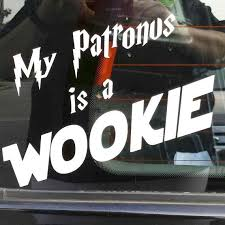 My Patronus Is A Wookie Vinyl Window Locker Car By Cosplayusa 2 99 Wookie Geek Life Window Vinyl