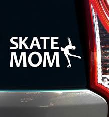 Figure Skate Mom Window Decal Figure Skating Skate Window Decals