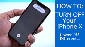 how to turn off your iphone x power