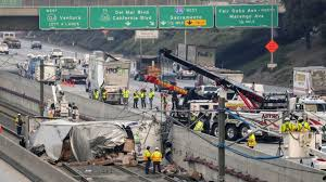 Trucks On The 210 Freeway Keep Crashing Onto The Gold Line A Fix Could Get Expensive Los Angeles Times