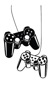 Playstation Controllers Gaming Joystick Wall Decal Home Decor Art Vinyl Sticker Game Room Design Game Room Vinyl Sticker