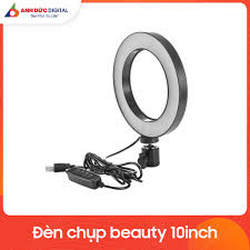 Đèn Led tròn 10 inch hỗ trợ chụp ảnh, quay phim, livestream - Kết nối cổng  USB