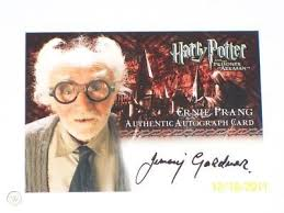 Harry Potter Ernie Prang Jimmy Gardner Prisoner of Azkaban Auto ...