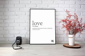 funny love definition love wall art