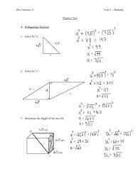 pre calculus 11 unit 5 radicals