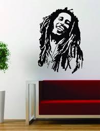 Bob Marley Version 2 People Music Reggae Rasta Decal Sticker Wall Viny Boop Decals