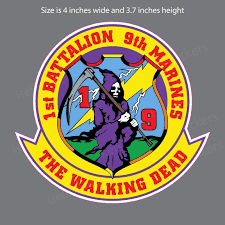1st Battalion 9th Marine Corp Military Bumper Sticker Vinyl Window Decal