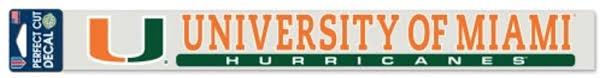 Amazon Com University Of Miami Car Decal