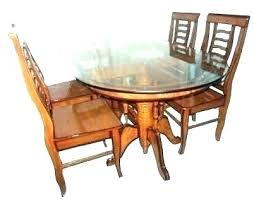 wooden dining table designs with glass