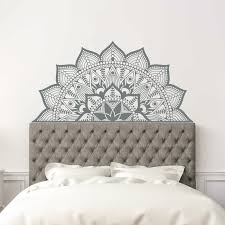 King Size Headboard Wall Decal Wood Removable Fake Design Twin Bed White Vamosrayos