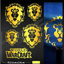 Alliance Horde Stickers For Car Waterproof Decal Metal Phone Laptop Sticker Sporting Goods Stickers Decals