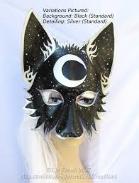 wolf mask animal mask moon mask leather