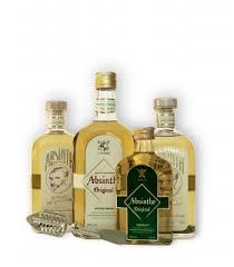 absinthe liquor with wormwood