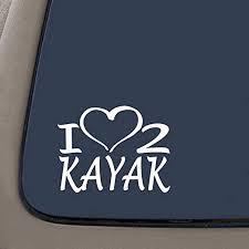 Amazon Com Cmi Ni277 I Love To Kayak Decal Kayak Life Premium Quality White Vinyl Decal 7 25 X 5 5 Kitchen Dining