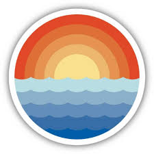 Stickers Northwest Sunrise Waves Sticker Dick S Sporting Goods