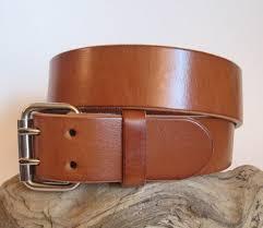 heavy duty leather belt suntan brown 1