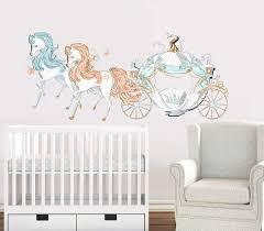 Cinderella Nursery Fabric Removable Re Positionable Wall Decals Sticke Poshvinyls