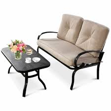 patio outdoor loveseat coffee table